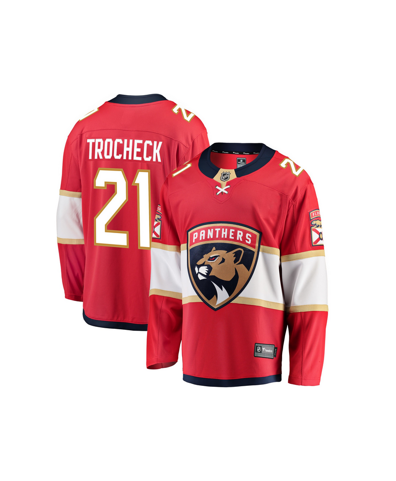 online store 9e445 20de9 Vincent Trocheck Breakaway player jersey red Florida Panthers