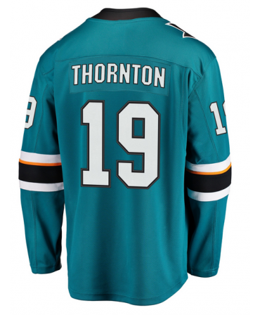 Joe Thornton Breakaway player jersey teal San Jose Sharks