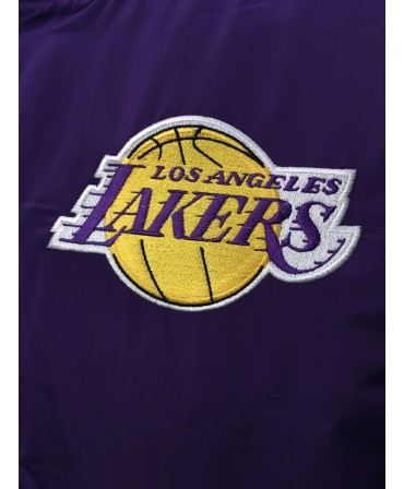 Bomber New Era NBA team apparel Los Angeles Lakers - violet d89399e72664